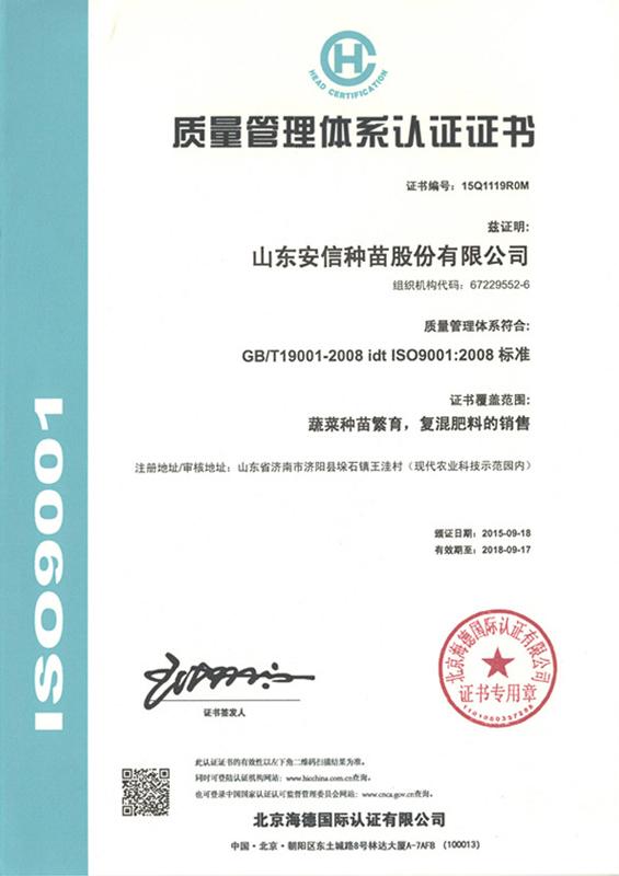 安信种苗-海德-9001